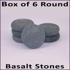 Caliente Masaje de piedra: 6 piedras de basalto Redondo 7 X 2cm