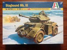 ITALERI 1/35 WW II CANADIAN STAGHOUND MK. III  MODEL KIT # 6395 FACTORY SEALED