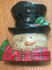 Yankee Candle Christmas Snowman Head Tealight Tart Burner Warmer Ceramic 2012