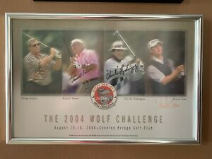 2004 WOLF CHALLENGE POSTER SIGNED BY ZOELLER, PALMER, RODRIGUEZ, TOMS