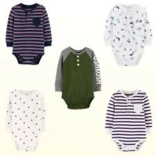 Baby Bgosh Oshkosh Bodysuit Baby Boys Long Sleeve Henley...
