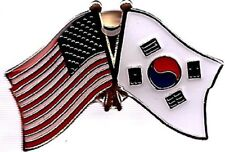 Wholesale Pack of 24 USA American South Korea Flag Hat Cap lapel Pin
