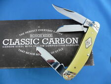 Rough Rider Classic Carbon Sowbelly Knife Yellow Composition Carbon Steel RR1733