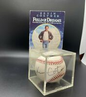 Kevin Costner Signed Baseball with VHS Movie Field of Dreams