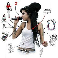 Amy Winehouse Premium Temporary Tattoos (A4 Pack) Hens Night Tattoos Fun