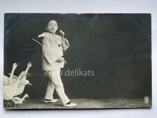 BAMBINO PIERROT child oca old postcard AK vecchia cartolina