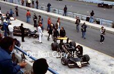 ANDRETTI & JARIER JPS Lotus 79 Pit & GARAGE USA GRAND PRIX 1978 Fotografia