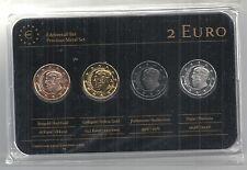 Griechenland 2 Euro Prestige Metal Coinset, Gold, Platin, Ruthenium, Neu, OVP