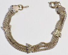 bijou vintage ancien bracelet rétro enfant plaqué argent papillon relief * 5060