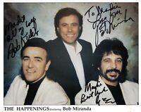 THE HAPPENINGS BAND SIGNED AUTOGRAPH 8x10 SIGNED PRESS PHOTO-BOB MIRANDA