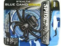 Spiderwire Camo Blue Stealth Braid Superline 50 Lb 300 Yds Braided Fishing Line