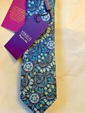 Liberty London Feraud Wild Flowers black floral 100/% cotton neck tie new $130