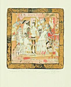 "Original colorited Etching ""Jidgment of Paris"" by NOZDRIN YURY / Russia"