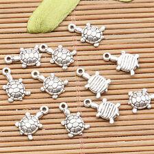 60pcs tibetan silver color cute little turtle   charms H3324