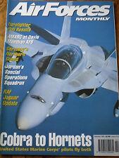 AFM AIR FORCES MONTHLY MAG FEB 98 EUROFIGHTER JORDAN SPECIAL OP RAF JAGUAR COBRA