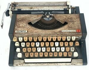 Antique Original OLYMPIA Original Collectible Old Vintage Suitcase Typewriter