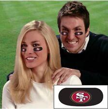 NFL San Francisco 49ers 6Pack Eye Black Strips Vinyl Face Decorations Sticker