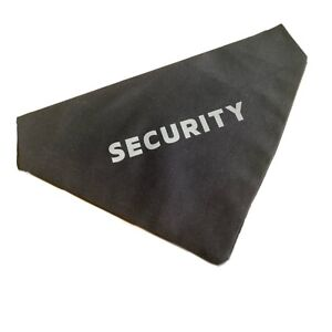Black Dog Bandana with Hi Viz Reflective Security Logo Slip on collar