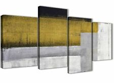 Large Mustard Yellow Grey Painting Abstract Bedroom Canvas Decor - 4425 - 130cm