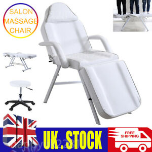Beauty Salon Bed Massage Table Tattoo Spa Treatment Couch Chair W/ Stool Set UK