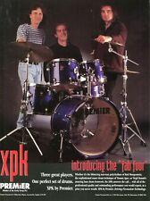 1997 Print Ad of Premier XPK Drum Kit w Rod Morgenstein Virgil Donati Tommy Igoe