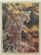 Dimensions GOLD COLLECTION CROSS STITCH KIT LEOPARD'S GAZE #35209 NEW Al Agnew