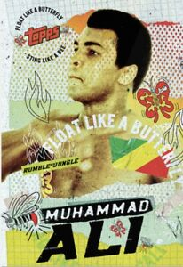 2021 TOPPS MUHAMMAD ALI RUMBLE JUNGLE CARD by TYSON BECK #TB-6 FLOAT BUTTERFLY