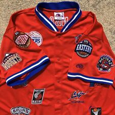 Vintage NBA Patch Warmup Jersey Shirt Jeff Hamilton Nets Grizzlies Pistons Bulls