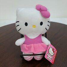 """Sanrio Hello Kitty Plush 6"""" Stuffed Toy White Pink Fiesta"""