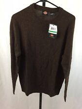 Dickies Men's Solid Jersey Crew Sweater Espresso Size L Large NWT