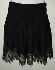 1C40012 LADIES BLACK SHIRRED WAIST BEACH SHORTS / PANTS size 12 , 14 , 16 NEW