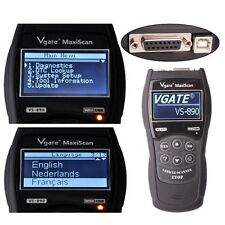 LCD VGATE VS890 16Pin OBDII OBD2 Code Reader Auto Car Scanner Diagnostic Tool