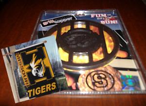 NEW - SuperFan Pack: MISSOURI TIGERS Flag plus FUN ON THE BUN Grill Topper !!!