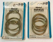 Gold Arts & Crafts Fashion Household Usa Vintage Lot of 2 Metal D Rings 1-1/2""
