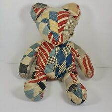 Antique Patchwork Quilt Teddy Bear