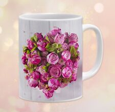 Nature ~ Flowers, Roses, Pink, Shabby Chic ~ 11 oz Ceramic Coffee Mug 10