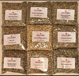 Variety Pack 9 x Origin Green/Raw 100% Arabica Coffee Beans For Home Roasting