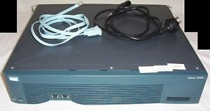 Cisco 3600 series 3640 router 128/32MB with WIC-1B S/T and NM-2E2W modules