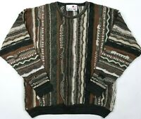 Vintage 80's/90's Florence Tricot 3D Textured Cosby Biggie Sweater Large Men's