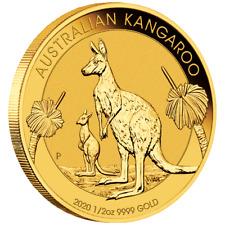 Australien - 50 Dollar 2020 - Kangaroo / Känguru - Anlagemünze - 1/2 Oz Gold ST
