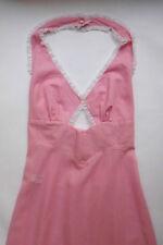 Kenneth Pirrie designer pink cotton negligee set, SW - size 8, vintage 1960s, EC