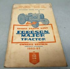 1952 1953 1954 1955 1956 1957 FORDSON MAJOR TRACTOR Factory Parts Book - RARE