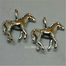 12pc Tibetan Silver horse Charm Beads Pendant accessories Findings PL672