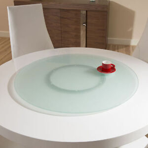 50CM ROUND COMPLETE SET LAZY SUSAN FROSTED TOUGHENED GLASS 500MM + BEARING RING