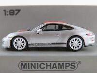 Minichamps 870 066221 Porsche 911 R (2016) in silbermet./rot 1:87/H0 NEU/OVP