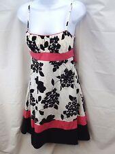 Women's Dress Size 3 Trixxi Black White Print Pink Accents Spaghetti Strap