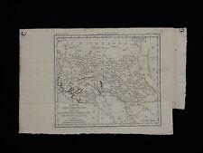 ancienne carte XVIII century provinces annexées à la Pologne Russie lituannie