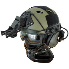Custom FAST Tactical Bump Helmet + Electronic Earmuffs + ANSI Goggles + More