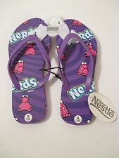 NWT BIOWORLD NESTLE Purple NERDS Sandals Flip Flops~Size S 5-6