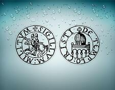 2x Sticker car biker maltese seal airsoft crusader cross templar knights r2